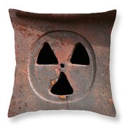 Detailed View Of Rusted Furnace Glacier National Park Montana Throw Pillow