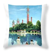 Detroit - Gladwin Waterworks Park - Jefferson Avenue At The Detroit River - 1905 Throw Pillow