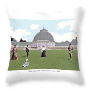 Detroit - Horticultural Conservatory - Belle Isle Park - 1905 Throw Pillow