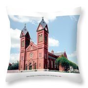 Detroit - Sheridan Avenue - St Anthony Catholic Church - 1910 Throw Pillow