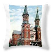 Detroit - St Mary Catholic Church - Monroe Avenue - 1910 Throw Pillow