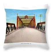 Detroit - The Belle Isle Bridge - 1908 Throw Pillow