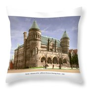 Detroit - The Museum Of Art - Jefferson Avenue At Hastings Street - 1905 Throw Pillow