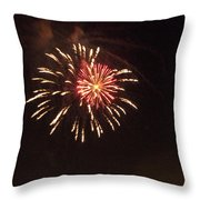 Detroit Area Fireworks -1 Throw Pillow
