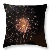 Detroit Area Fireworks -10 Throw Pillow