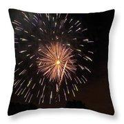 Detroit Area Fireworks -10 Throw Pillow