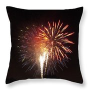 Detroit Area Fireworks -2 Throw Pillow