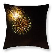 Detroit Area Fireworks -3 Throw Pillow