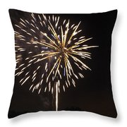 Detroit Area Fireworks -4 Throw Pillow