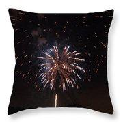 Detroit Area Fireworks -5 Throw Pillow