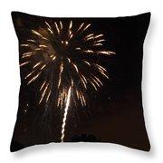 Detroit Area Fireworks -6 Throw Pillow