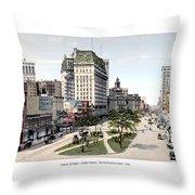 Detroit - Cadillac Square - 1905 Throw Pillow
