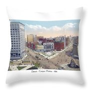 Detroit - Campus Martius - Soldiers And Sailors Monument - 1914 Throw Pillow