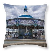 Detroit Carousel  Throw Pillow