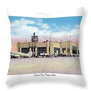Detroit - City Airport - 1944 Throw Pillow