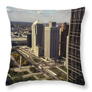 Detroit City Streets Michigan Throw Pillow