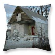 Detroit Ice House Throw Pillow
