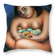 Detroit Industry   Detail From The East Wall Throw Pillow by Diego Rivera