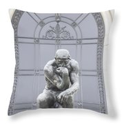 Detroit Institute Of Art Statue Throw Pillow