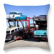 Detroit Iron 2 Throw Pillow