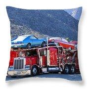 Iron Road Palm Springs Throw Pillow