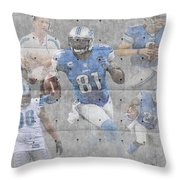 Detroit Lions Team Throw Pillow