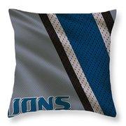 Detroit Lions Uniform Throw Pillow