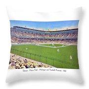 Detroit - Navin Field - 1922 Throw Pillow