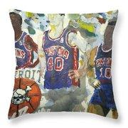 Detroit Pistons Bad Boys  Throw Pillow