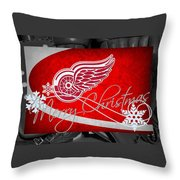 Detroit Red Wings Christmas Throw Pillow