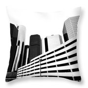 Detroit Ren Cen Throw Pillow