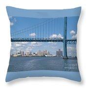 Detroit River Crossing Throw Pillow