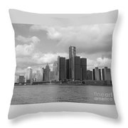 Detroit Skyscape Throw Pillow