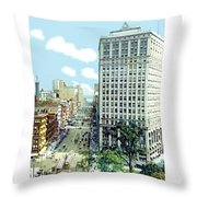 Detroit - The David Whitney Building - Woodward Avenue - 1918 Throw Pillow