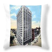 Detroit - The Kresge Building - West Adams Street - 1918 Throw Pillow