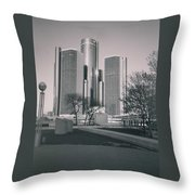 Detroit2 Throw Pillow