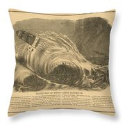 Detstruction Of Minots Ledge Lighthouse Throw Pillow