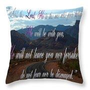 Deuteronomy 31 Verse 8 Throw Pillow