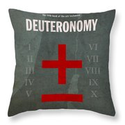 Deuteronomy Books Of The Bible Series Old Testament Minimal Poster Art Number 5 Throw Pillow by Design Turnpike