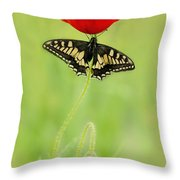 Devil And Angel Throw Pillow