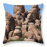 Devil Canyon Rim Rocks Throw Pillow