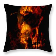 Devil Within Throw Pillow