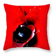 Devilish Eye Of The Bromeliad Throw Pillow