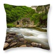 Devil's Bridge In Spring Throw Pillow