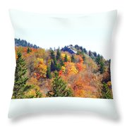 Devil's Courthouse In The Fall Throw Pillow