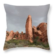 Devils Garden Arches Np Throw Pillow