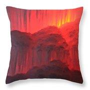 Devil's Hideout Throw Pillow