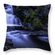 Devil's Hopyard Waterfall Throw Pillow
