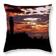 Devil's Island Lighthouse Throw Pillow