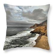 Devil's Slide Beach Throw Pillow
